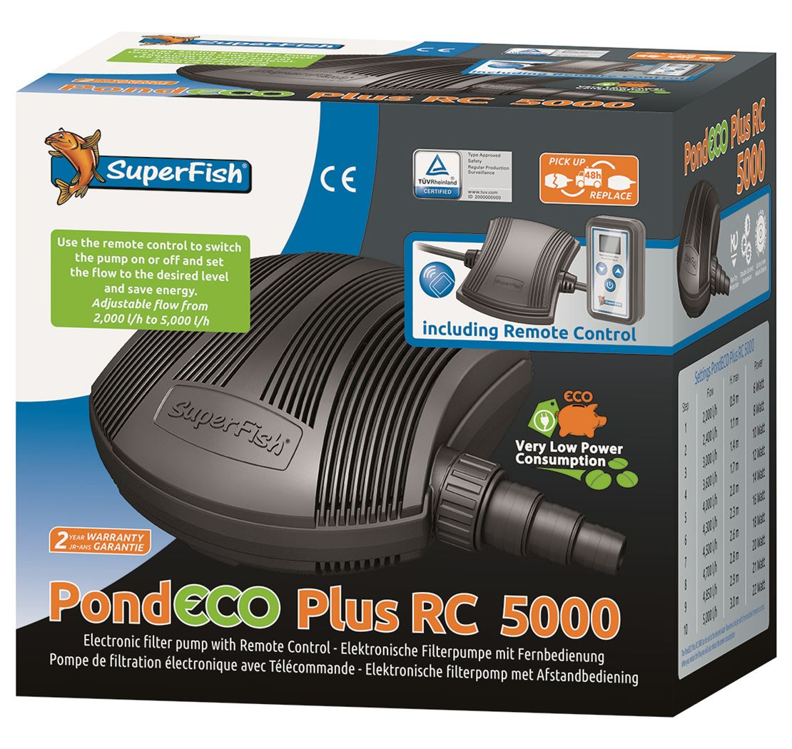 vijverpomp superfish pond eco plus rc5000