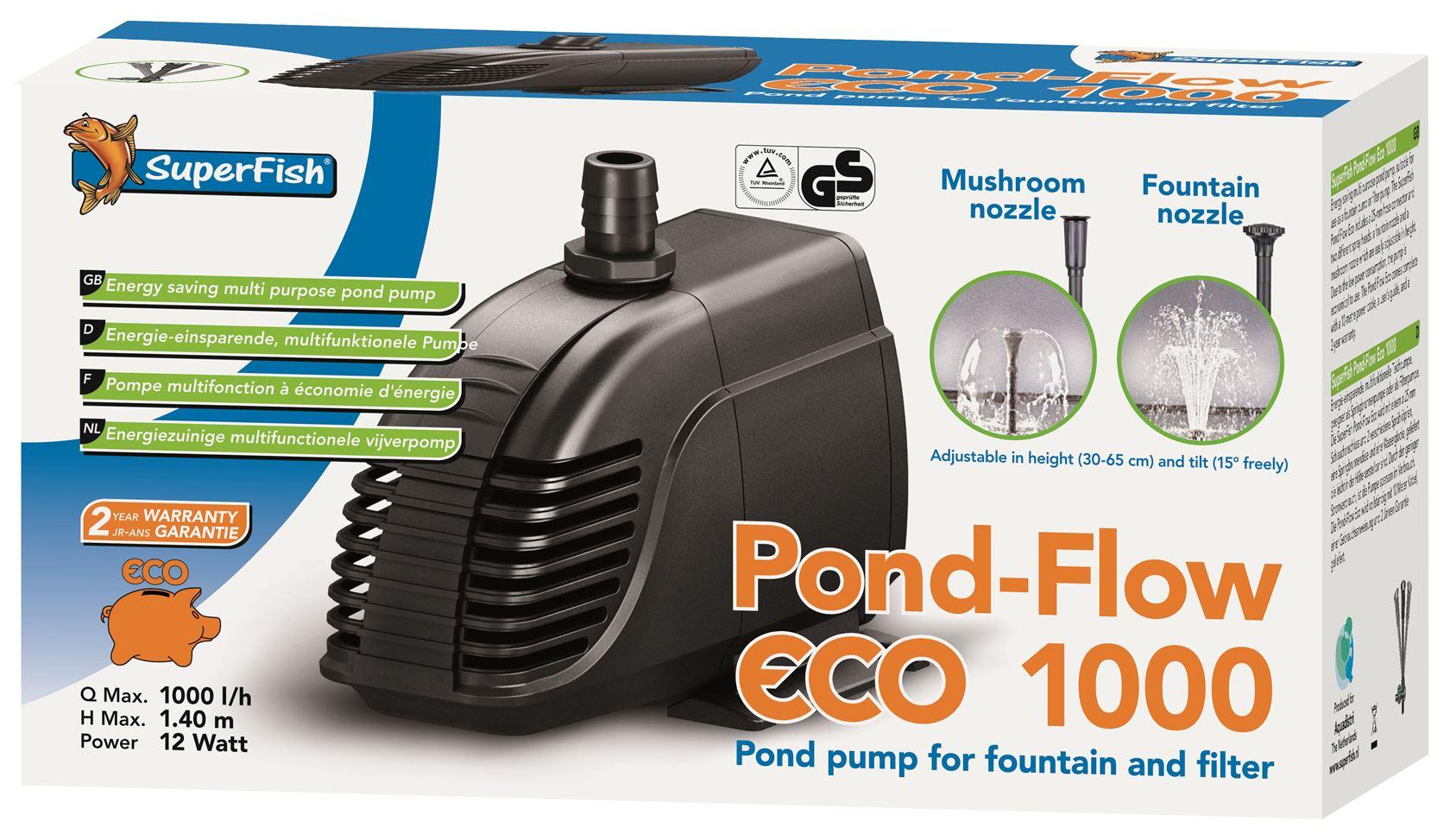 vijverpomp superfish pond flow eco 1000