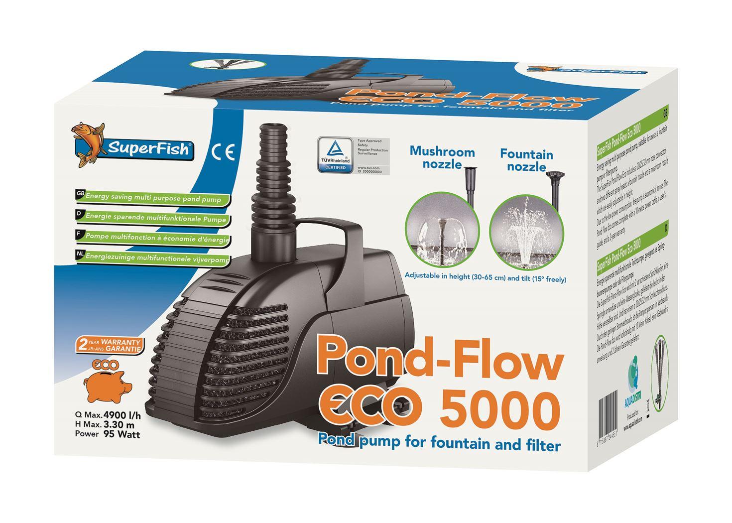 vijverpomp superfish pond flow eco 5000