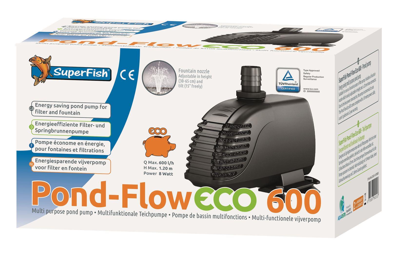vijverpomp superfish pond flow eco 600