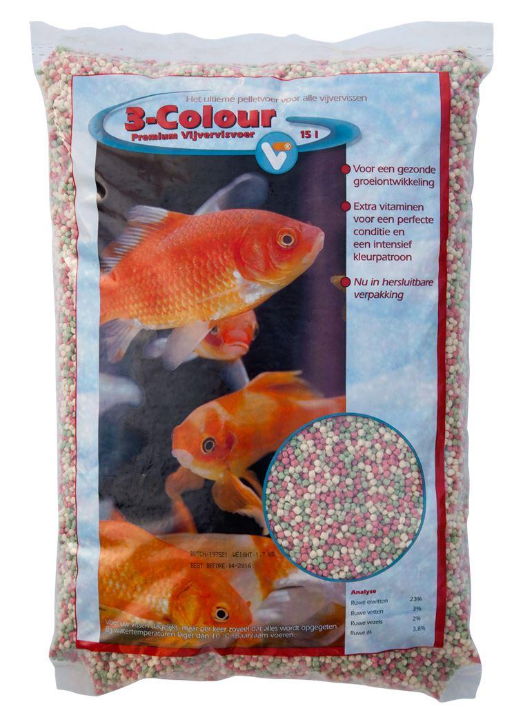 vijvertechniek 3-colour pellets premium vijvervisvoer