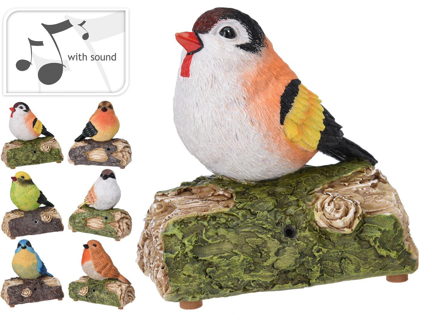 vogel met geluid (6ass.)(b/o)