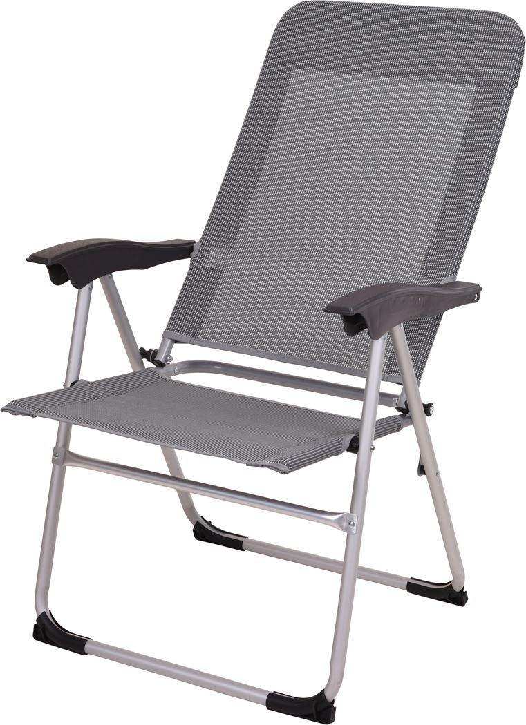 vouwstoel alu 2x1 poly grijs