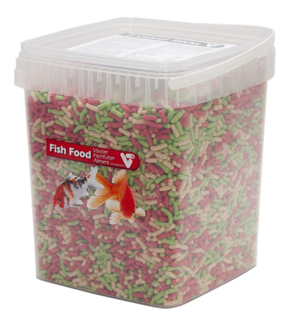 vijvertechniek vijvervisvoer 3-kleuren sticks