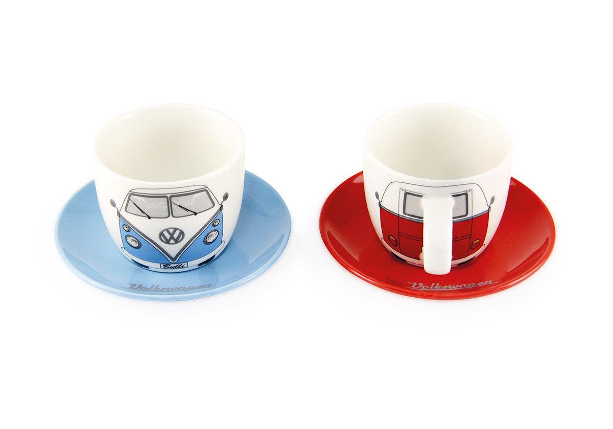 vw t1 bus espresso 2 cup set