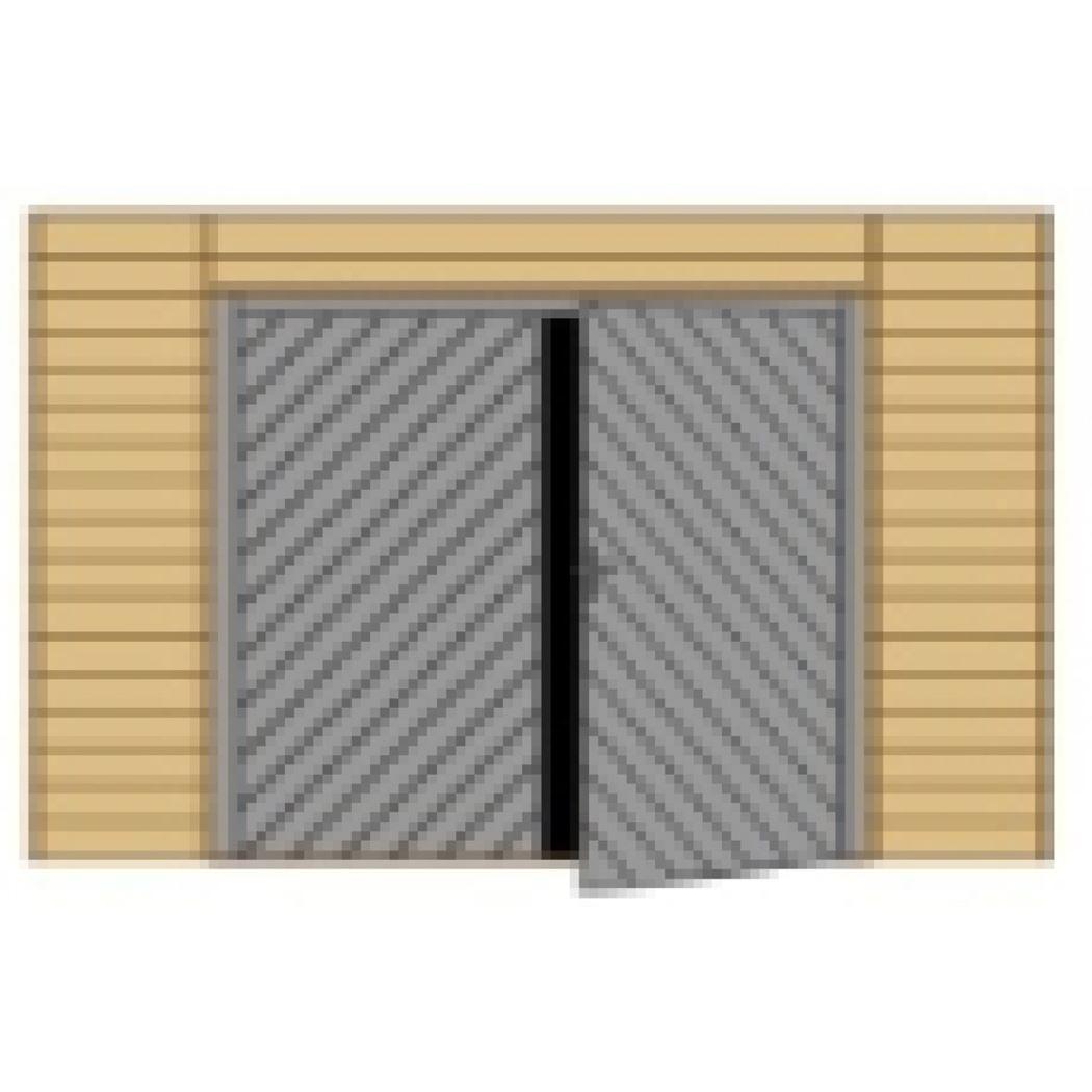 wand voorkant dubbele deur hoog voor carport s7723