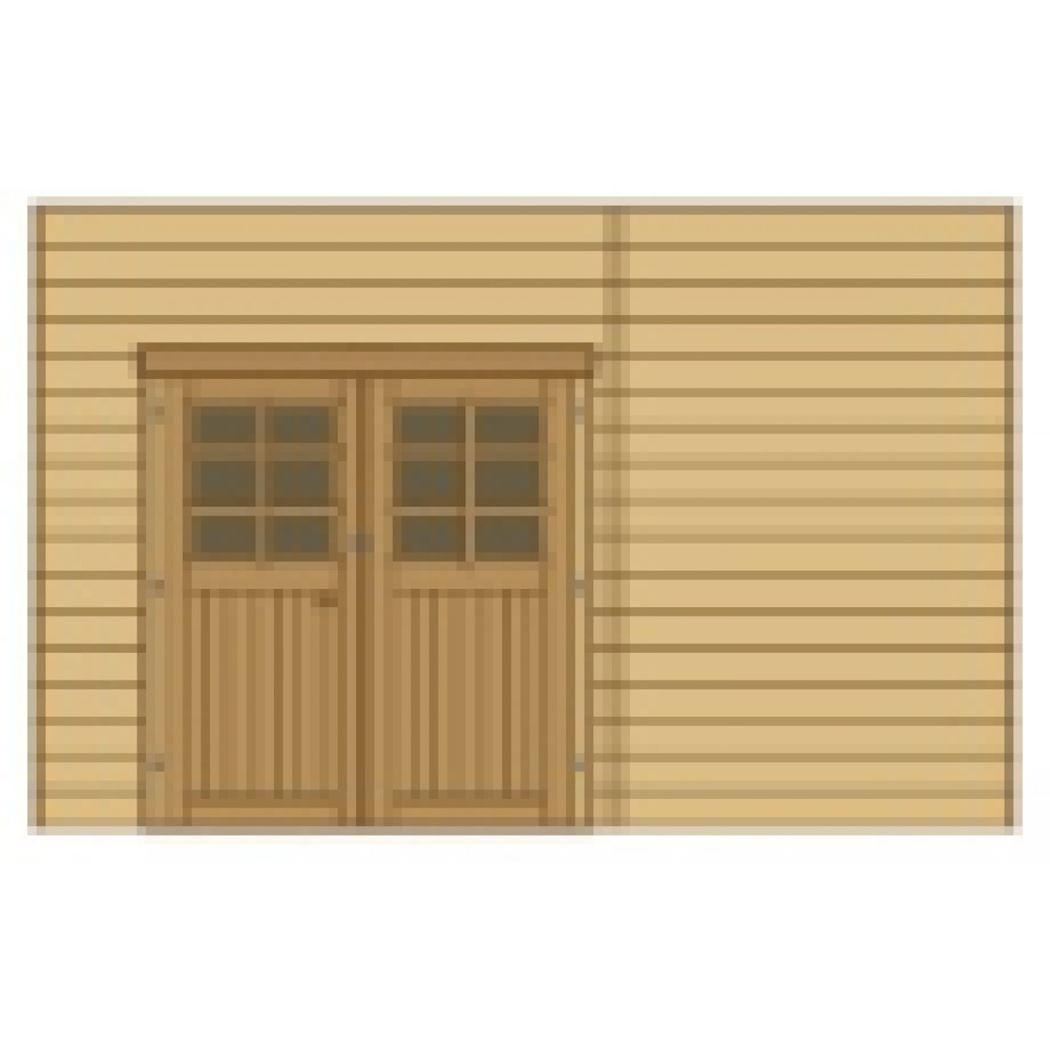 wand voorkant dubbele deur links voor carport s7723