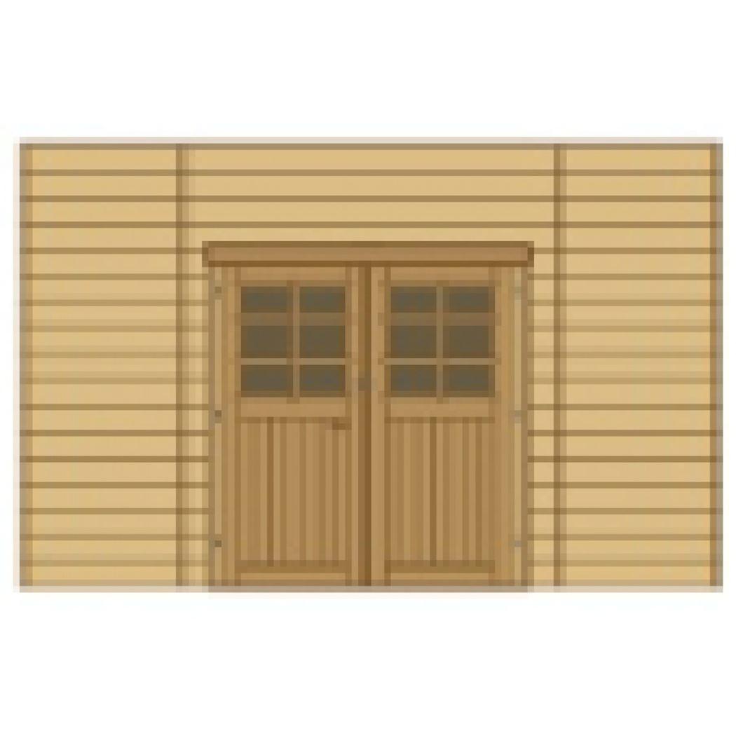 wand voorkant dubbele deur midden voor carport s7723