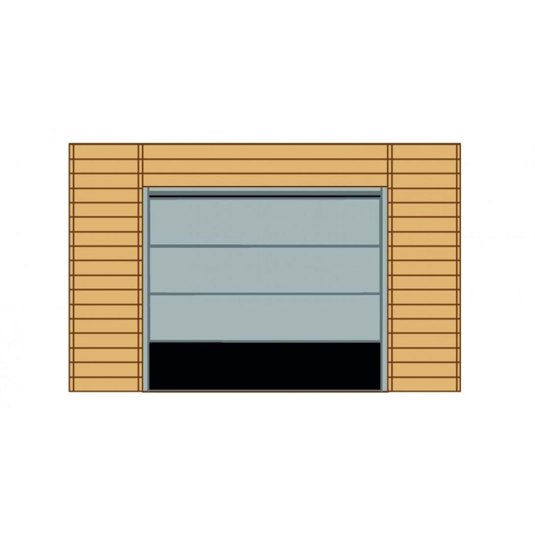 wand voorkant garagepoort voor carport s7723