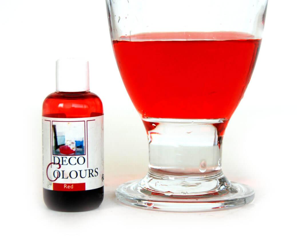 water kleurstof rood