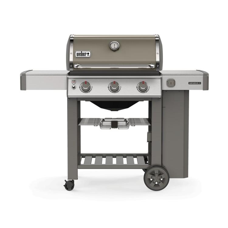 weber gasbarbecue genesis ii e-310 gbs smoke grey