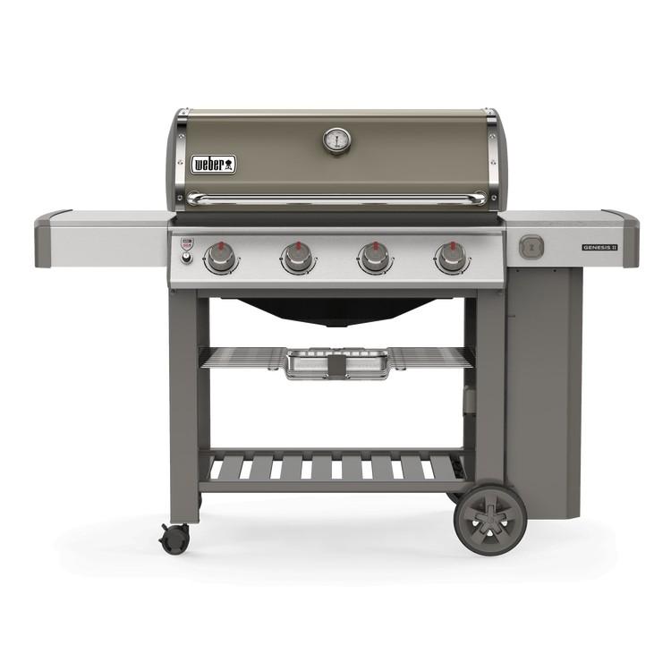 weber gasbarbecue genesis ii e-410 gbs smoke grey