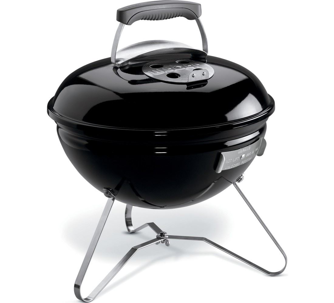 weber houtskoolbarbecue smokey joe black