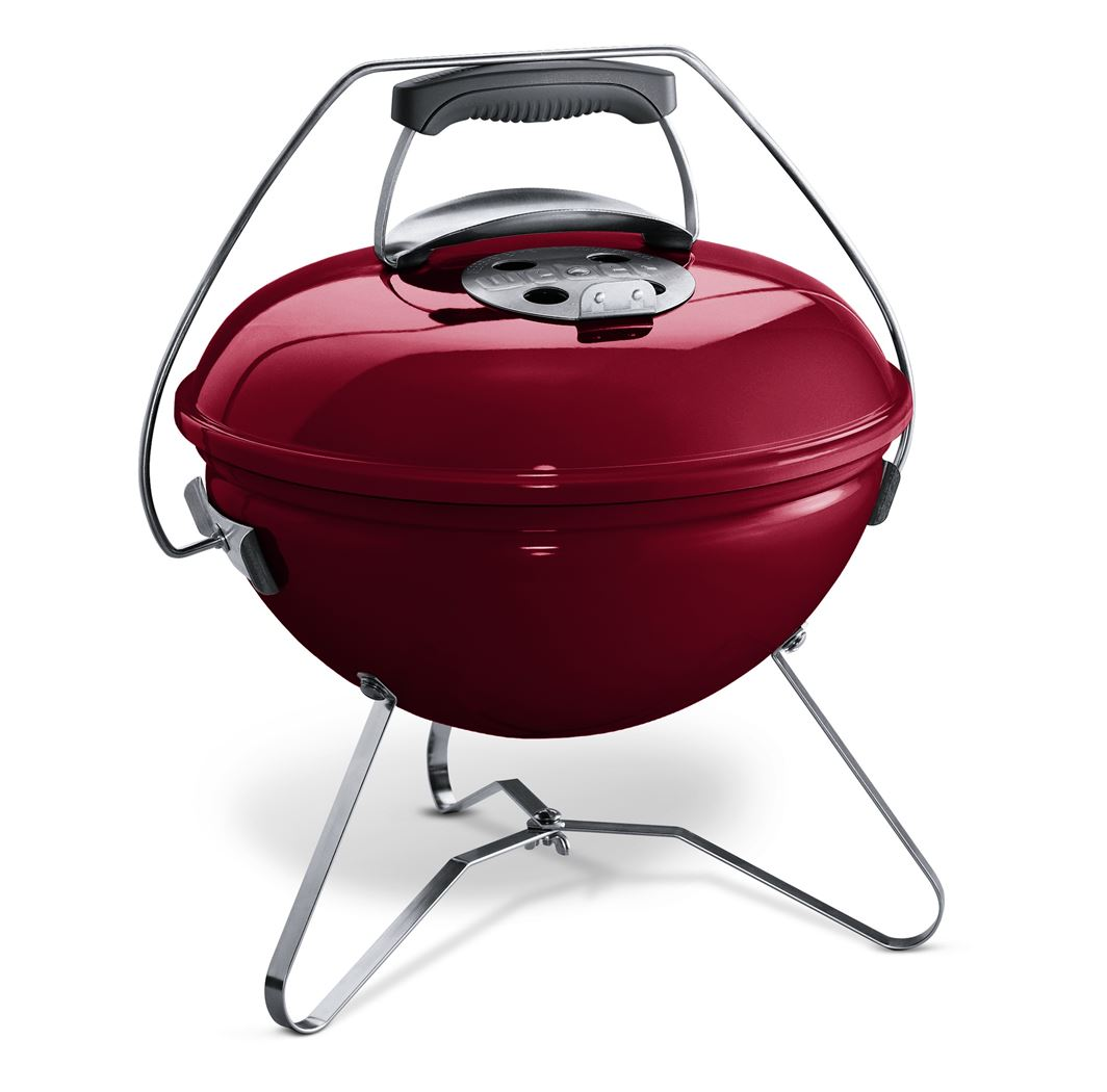 weber houtskoolbarbecue smokey joe premium crimson red