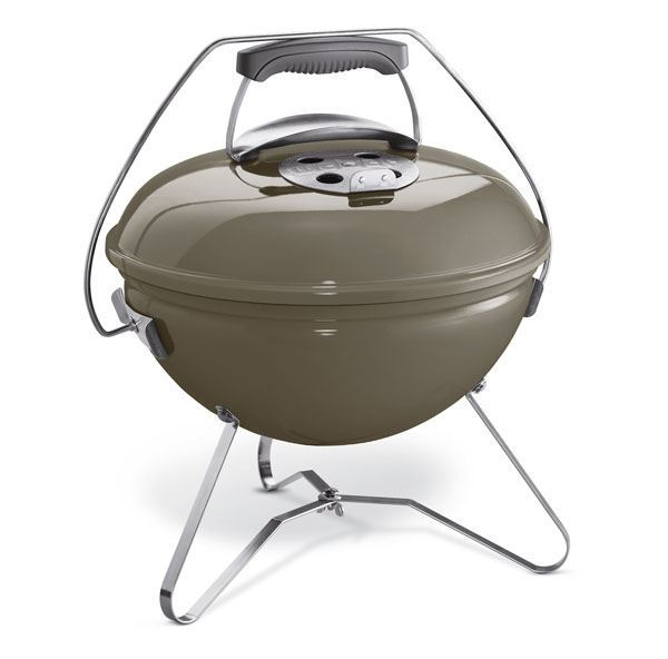 weber houtskoolbarbecue smokey joe premium smoke grey