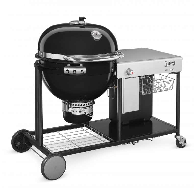 weber houtskoolbarbecue summit charcoal grill center gbs system edition black