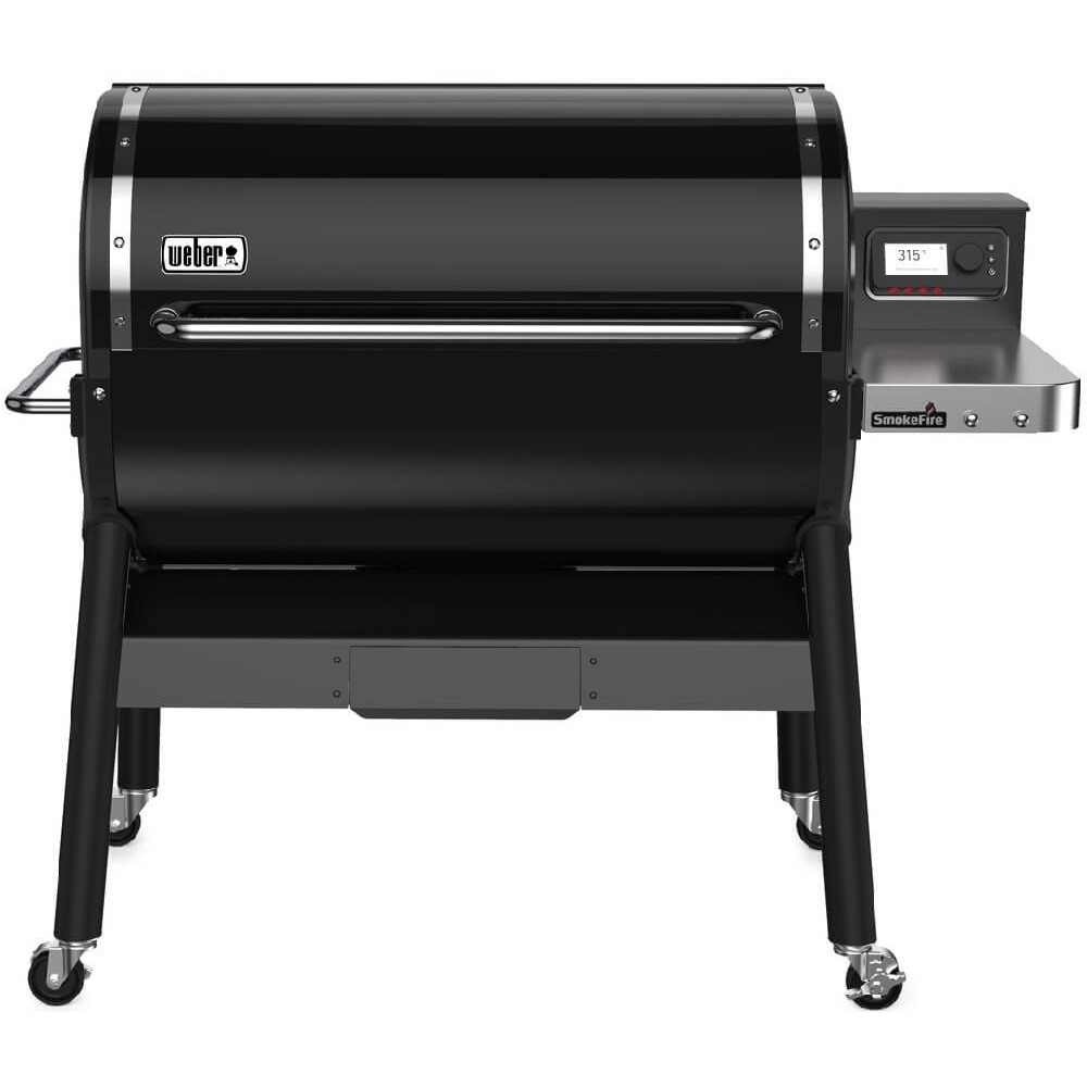 weber® pellet barbecue smoke fire