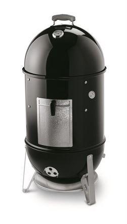 weber smokey mountain cooker black
