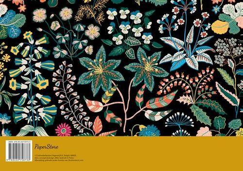 weekplanner - floral black