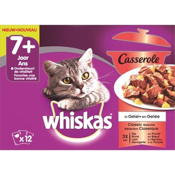 whiskas casserole senior classic in gelei