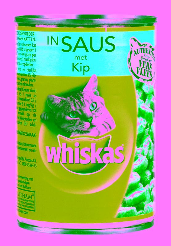 whiskas blik adult saus met kip
