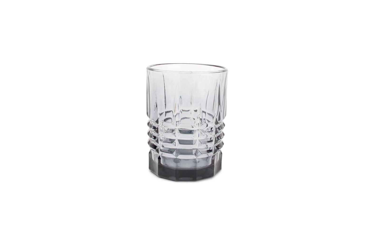 whiskyglas rechthoek grijs victoria (4sts)