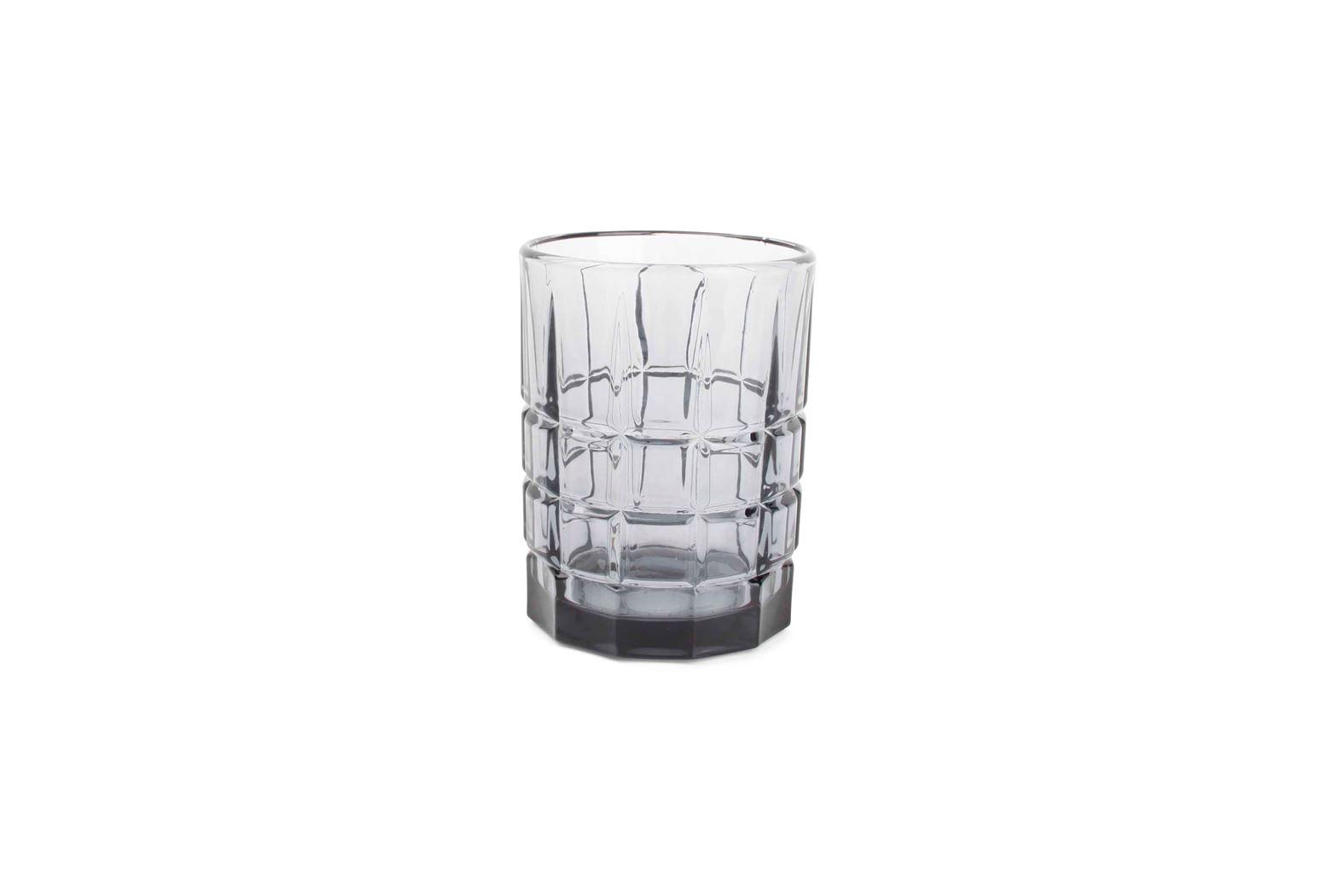 whiskyglas vierkant grijs victoria (4sts)