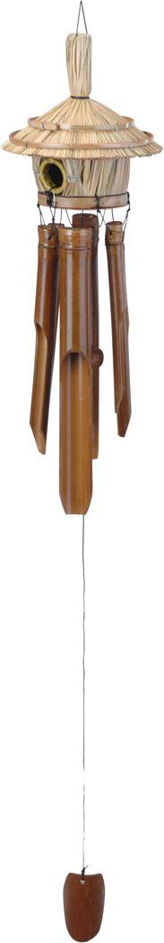 windgong bamboe met vogelhuisje