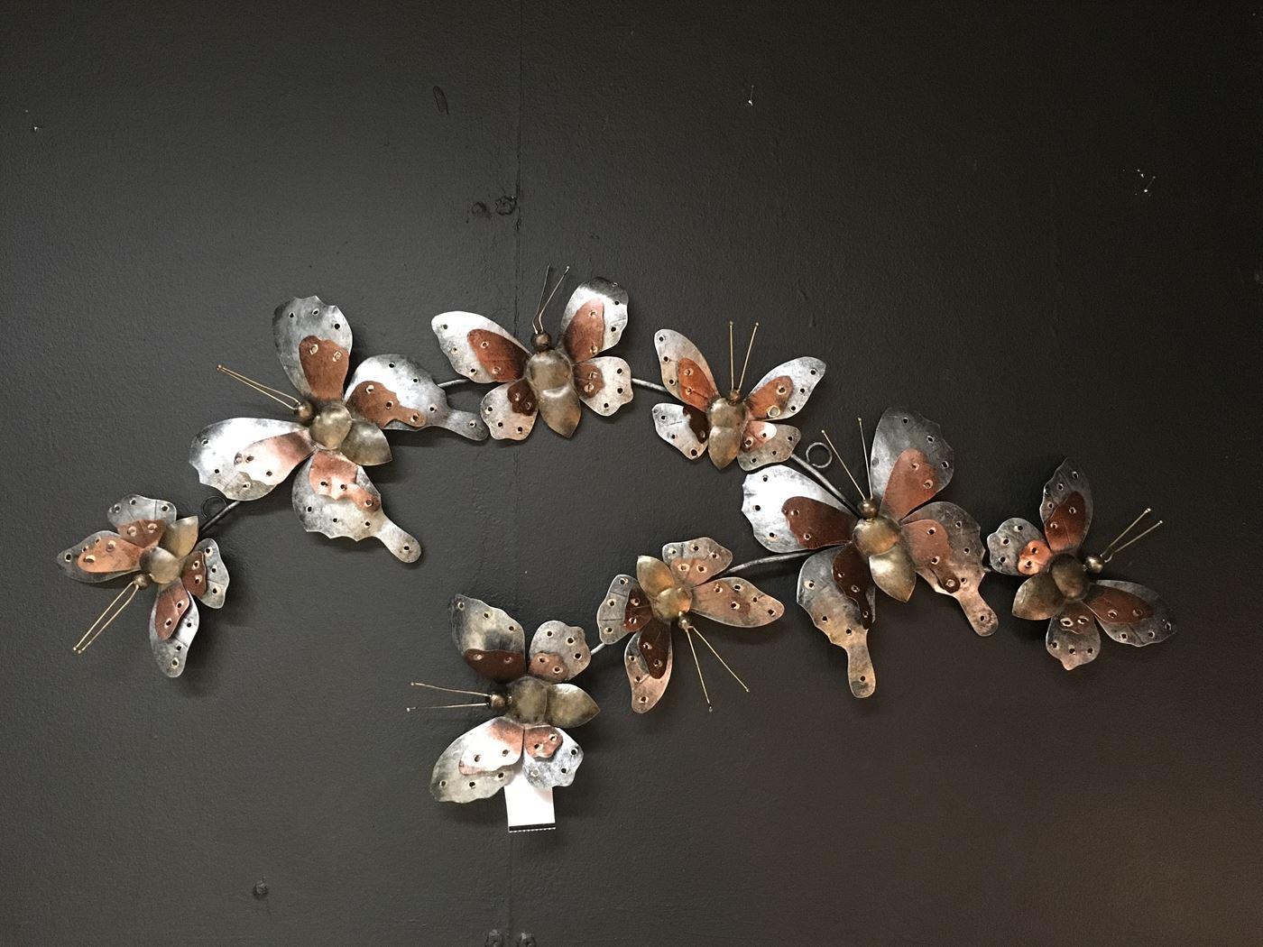 windgong metalen vlinders