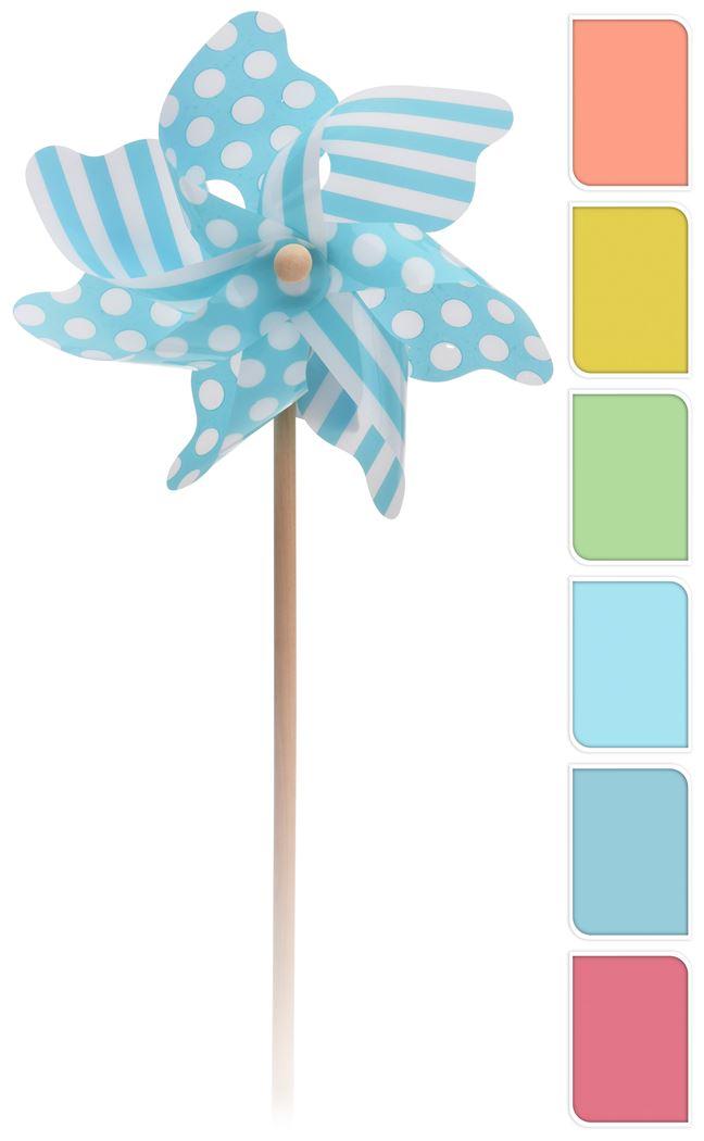 windmolen streep dessin (5 kleuren ass.)