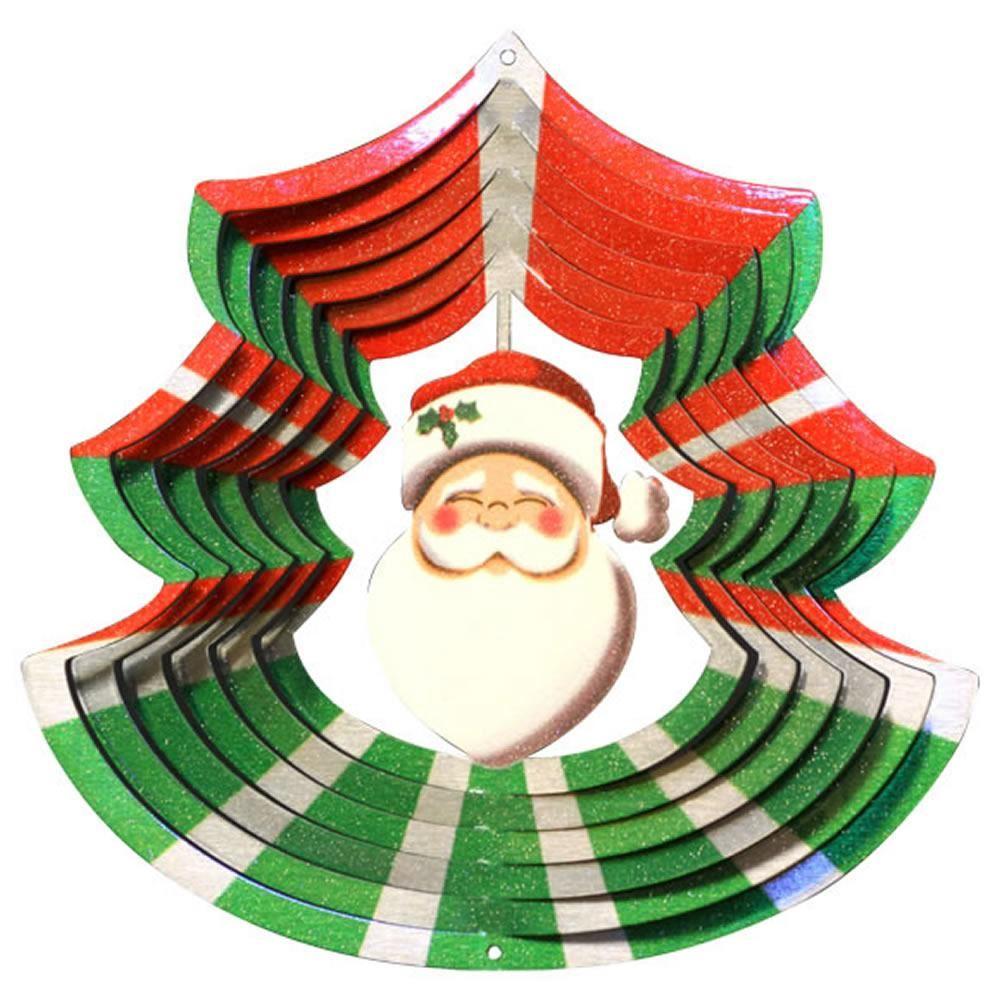 windspinner - christmas santa tree multi