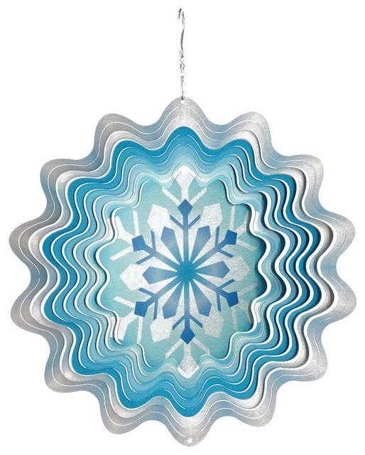 windspinner - christmas snowflake multi white