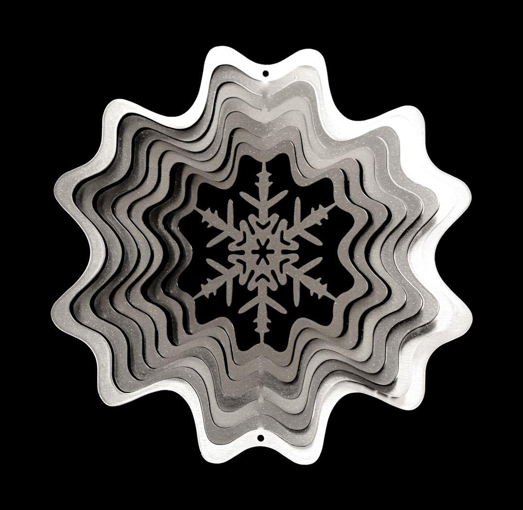 windspinner - christmas snowflake silver