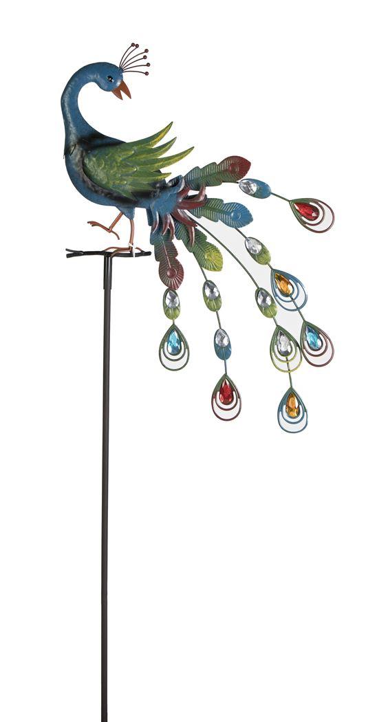 w.metal peacock stake b