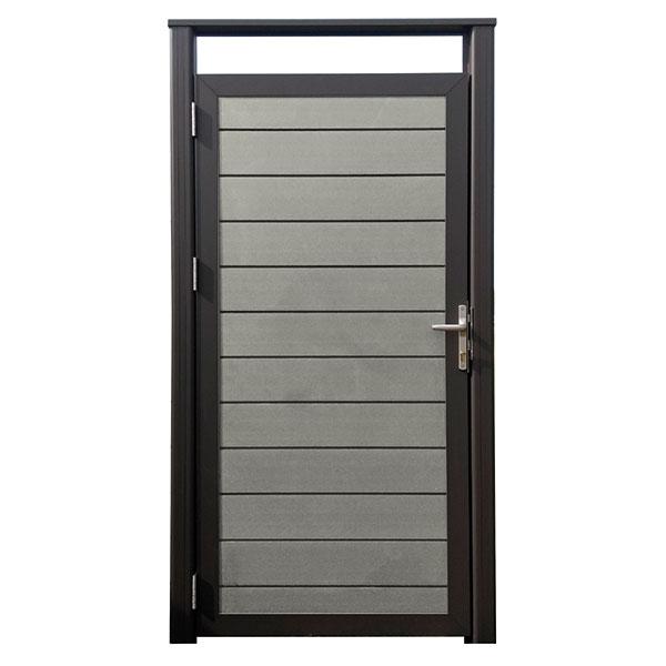 wpc composiet deur grijs incl.alupalen en beslag