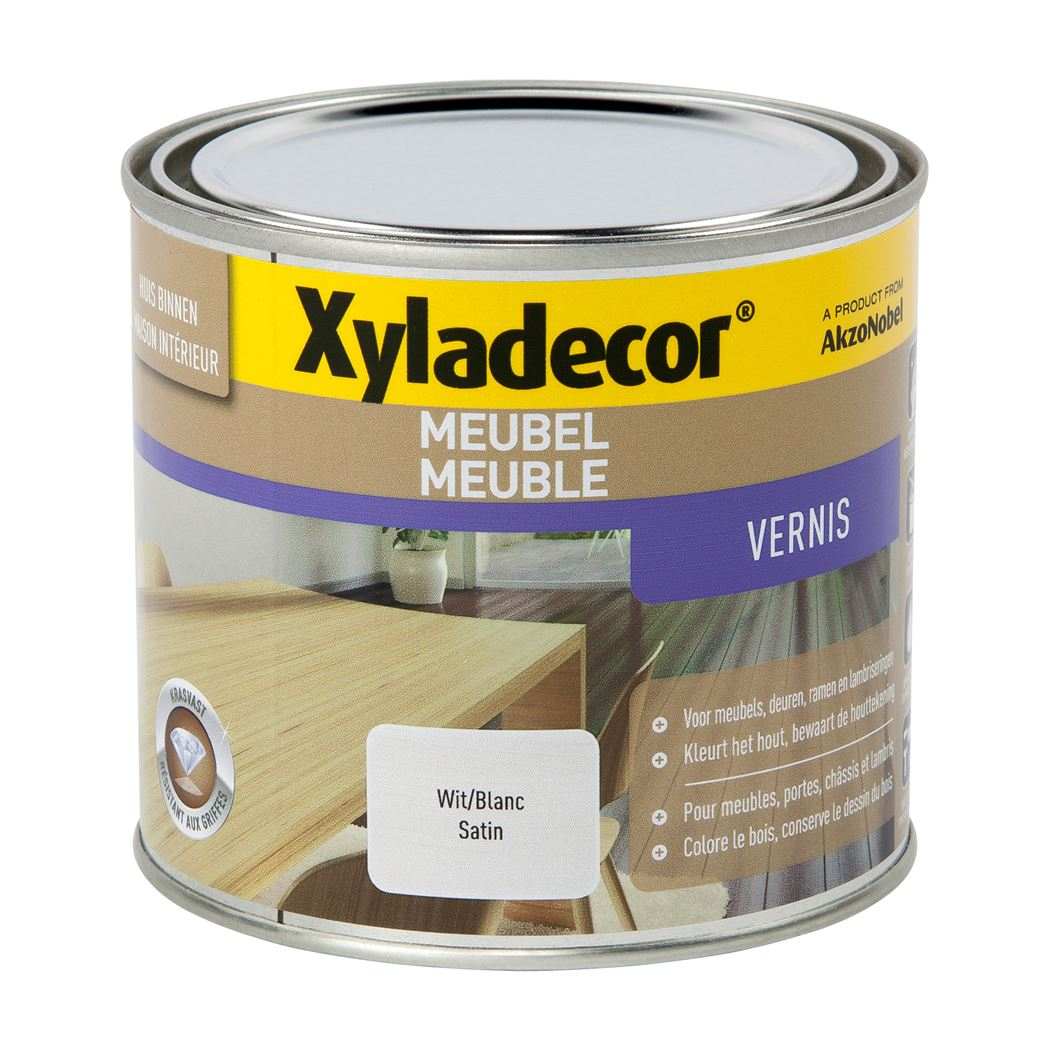 xyladecor meubel vernis satin wit