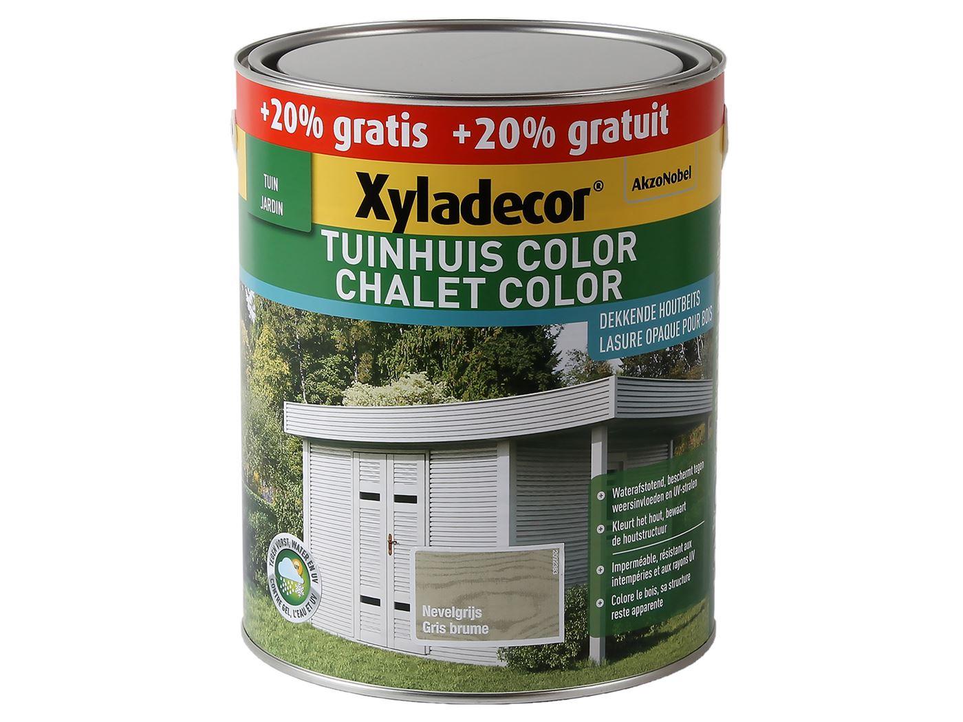 xyladecor tuinhuis color-nevelgrijs