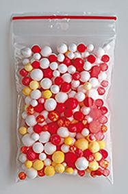 zakje isomo bolletjes 4-8 mm gekleurd