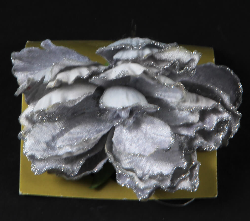 zb pioenroos o/clip glitter grijs