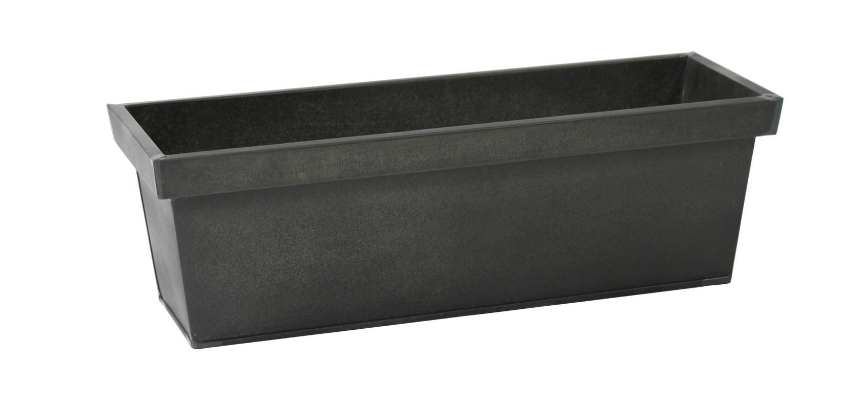 zinc vintage black rectangular tray
