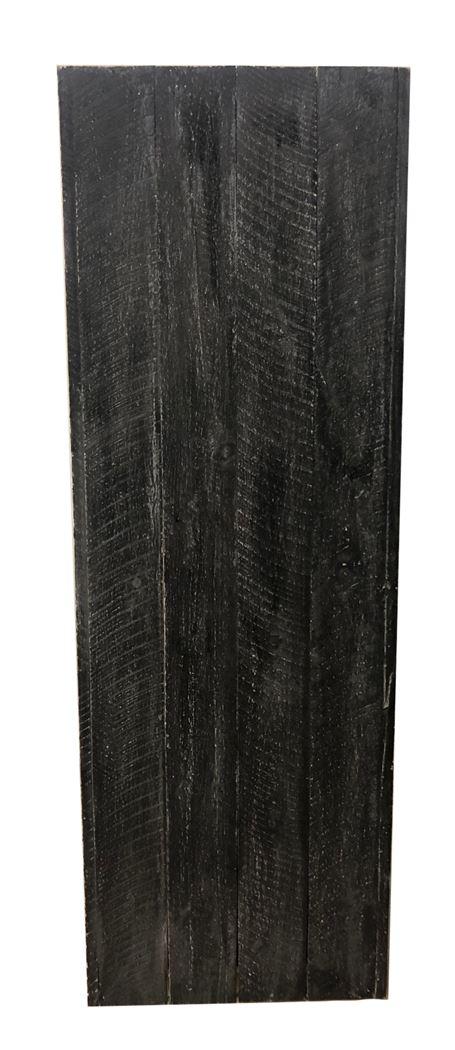 zuil hout grijs ingewassen 80-
