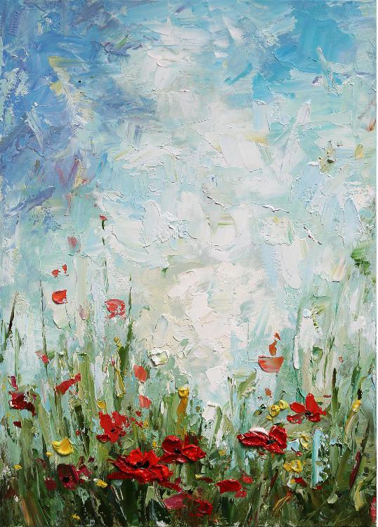oil-painting-rode-bloemen-indoor